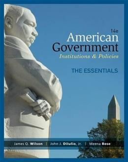 American Government, Essentials Edition 14 9781285195124