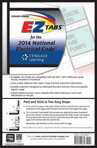 Color Coded EZ Tabs for the 2014 National Electrical Code, by Riley 9781285200361