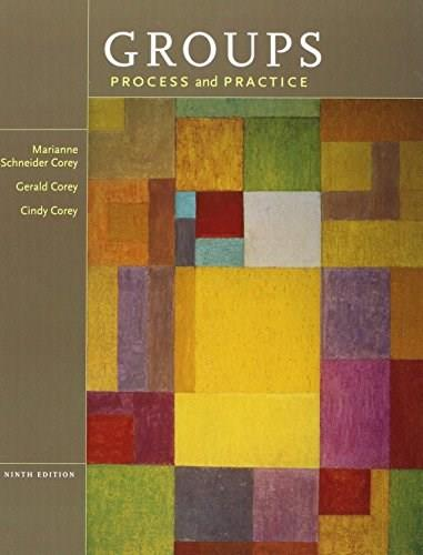 Groups:  Process and Practice, by Corey, 9th Edition, 2 BOOK SET PKG 9781285342306