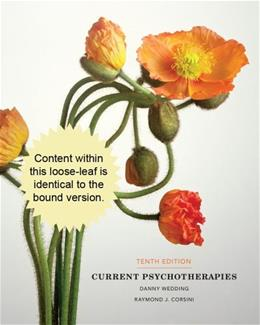 Current Psychotherapies, by Corsini, 10th Edition 9781285419053
