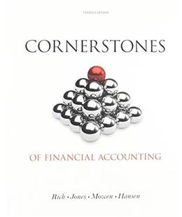 Cornerstones of Financial Accounting 3 9781285423678