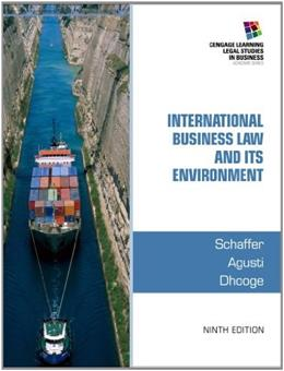 International Business Law and Its Environment 9 9781285427041