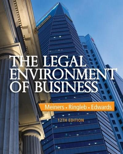 The Legal Environment of Business 12 9781285428222