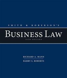 Smith and Robersons Business Law 16 9781285428253