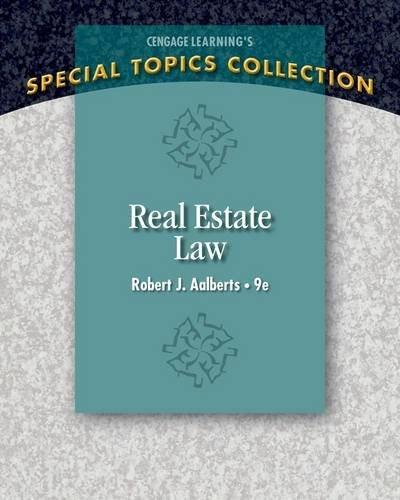 Real Estate Law (Real Estate Law (Seidel, George)) 9 9781285428765