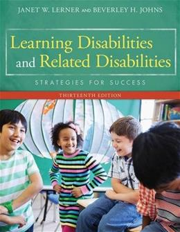 Learning Disabilities and Related Disabilities: Strategies for Success 13 9781285433202