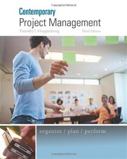 Contemporary Project Management 3 PKG 9781285433356