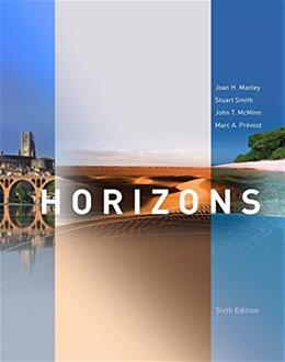 Horizons, by Manley, 6th Edition, Activities Manual 9781285433936