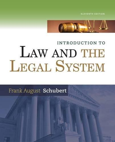 Introduction to Law and the Legal System 11 9781285438252