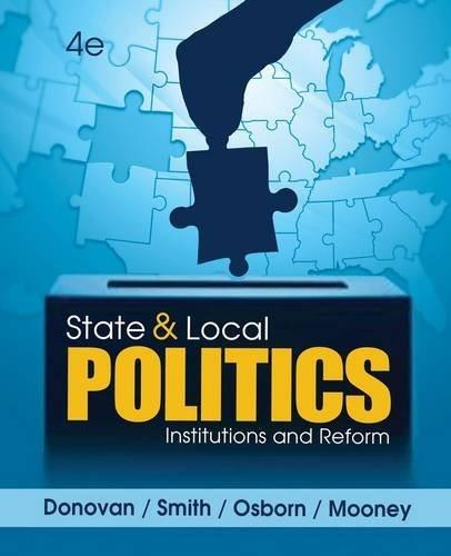 State and Local Politics: Institutions and Reform 4 9781285441405