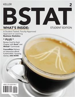 BSTAT, by Keller, 2nd Edition 2 PKG 9781285447681