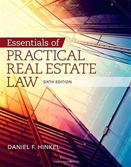 Essentials of Practical Real Estate Law, by Hinkel, 6th Edition 9781285448381