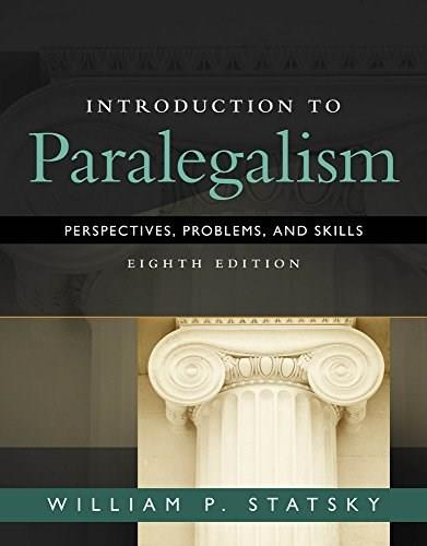 Introduction to Paralegalism: Perspectives, Problems and Skills 8 9781285449050