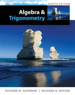 Algebra and Trigonometry 8 9781285449425