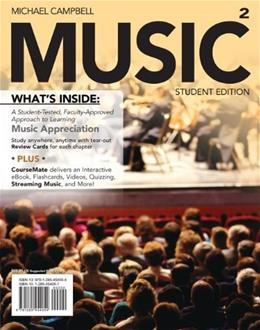 MUSIC2, by Campbell, 2nd Edition 2 PKG 9781285454054