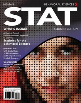 Behavioral Sciences STAT (with CourseMate Printed Access Card) (New, Engaging Titles from 4LTR Press) 2 PKG 9781285458144