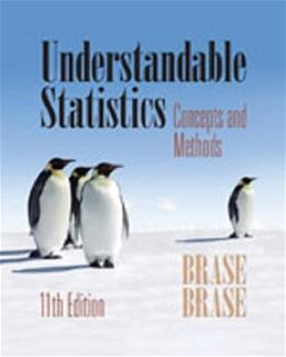 Understandable Statistics, by Erase, 11th Edition, Solutions Manual 9781285462837