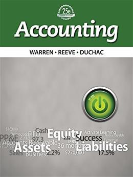 Bundle: Accounting, Loose-Leaf Version, 25th + CengageNOW™, 2 term Printed Access Card 25 PKG 9781285717036