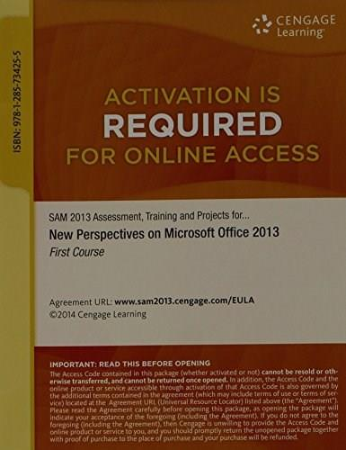 New Perspectives on Microsoft Office 2013, 1st Course, by Shaffer, ACCESS CODE ONLY PKG 9781285734255