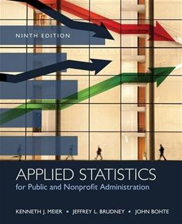 Applied Statistics for Public and Nonprofit Administration 9 9781285737232