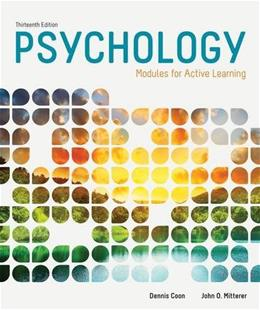 Psychology: Modules for Active Learning 13 9781285739281