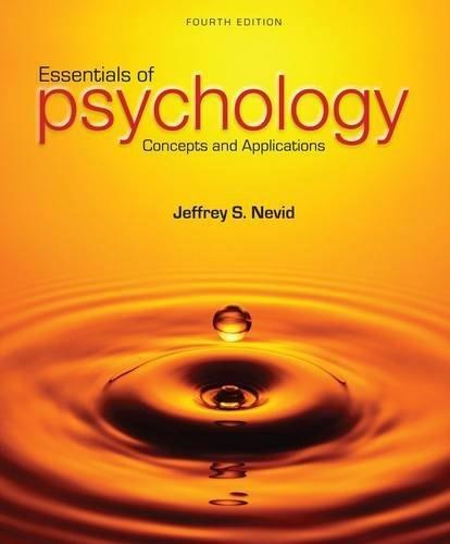 Essentials of Psychology: Concepts and Applications 4 9781285751221