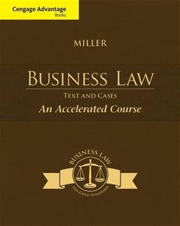 Cengage Advantage Books: Business Law, by Miller 9781285770192