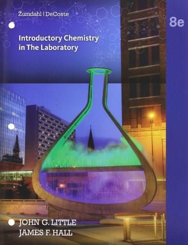 Introductory Chemistry: A Foundation, by Zumdahl, 8th Edition, Lab Manual 9781285845166