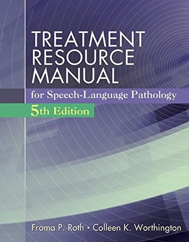 Treatment Resource Manual for Speech Language Pathology (with Student Web Site Printed Access Card) 5 PKG 9781285851150