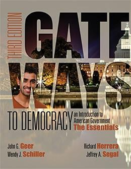 Gateways to Democracy: The Essentials (with MindTap Political Science, 1 term (6 months) Printed Access Card) (I Vote for MindTap) 3 PKG 9781285852911