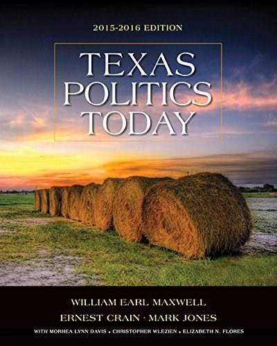 Texas Politics Today 2015-2016 Edition (with MindTap Political Science Printed Access Card) (Texas: Its a State of MindTap) 17 PKG 9781285853130