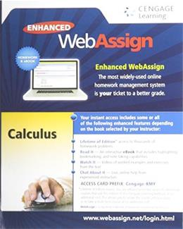 Calculus, Multi-Term Courses, by Cengage, ACCESS CODE ONLY PKG 9781285858265