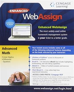 Instant Access for Advanced Math, by Cengage, Access Code Only PKG 9781285858296