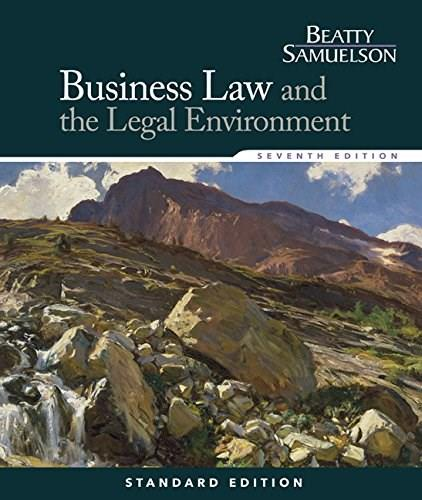 Business Law and the Legal Environment (Business Law and the Legal Enivorment) 7 9781285860381
