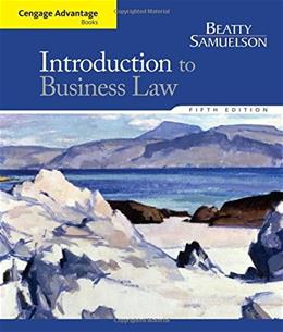 Cengage Advantage Books: Introduction to Business Law 5 9781285860398