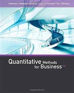 Quantitative Methods for Business 13 9781285866314