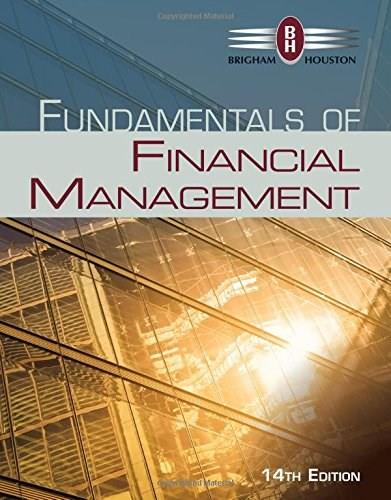 Fundamentals of Financial Management (Finance Titles in the Brigham Family) 14 9781285867977