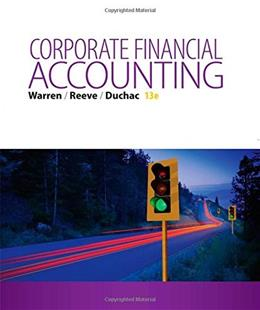 Corporate Financial Accounting 13 9781285868783