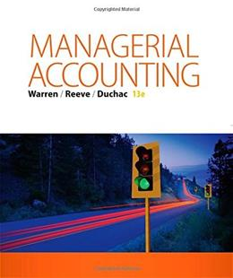 Managerial Accounting 13 9781285868806