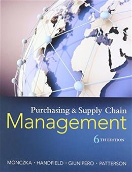Purchasing and Supply Chain Management 6 9781285869681
