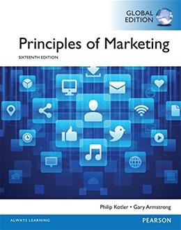 Principles of Marketing, by Kotler, 16th GLOBAL EDITION 9781292092485
