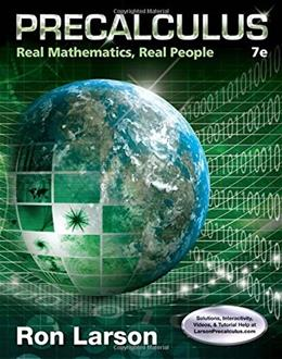 Precalculus: Real Mathematics, Real People 7 9781305071704