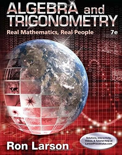 Algebra and Trigonometry: Real Mathematics, Real People 7 9781305071735
