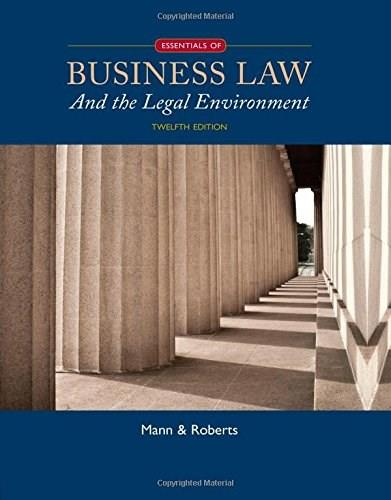 Essentials of Business Law and the Legal Environment 12 9781305075436