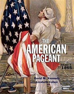 American Pageant, Volume 2 16 9781305075924