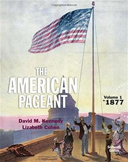 American Pageant, Volume 1 16 9781305075931