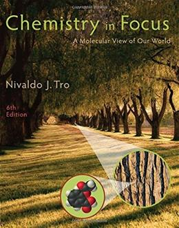 Chemistry in Focus: A Molecular View of Our World 6 9781305084476