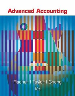 Advanced Accounting, by Fischer, 12th Edition 9781305084858