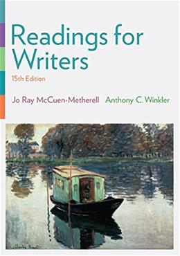 Readings for Writers 15 9781305087866