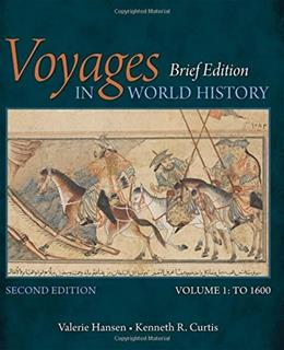 1: Voyages in World History, Volume I, Brief 2 9781305088818